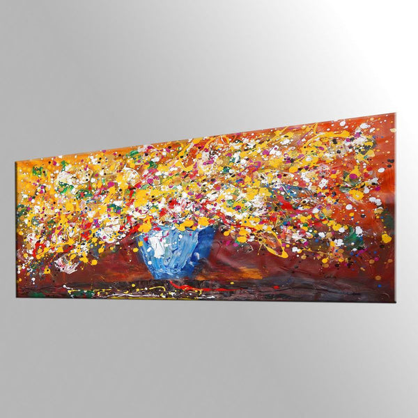 Abstract Art, Flower Painting, Kitchen Wall Art, Large Painting, Canvas Art, Wall Art, Abstract Artwork, Canvas Painting, 429 - artworkcanvas