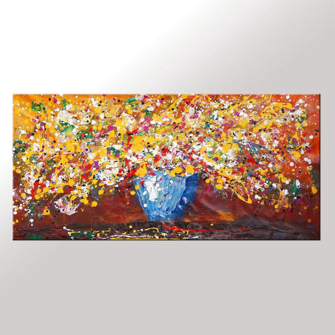 Abstract Art, Flower Painting, Kitchen Wall Art, Large Painting, Canvas Art, Wall Art, Abstract Artwork, Canvas Painting, 429