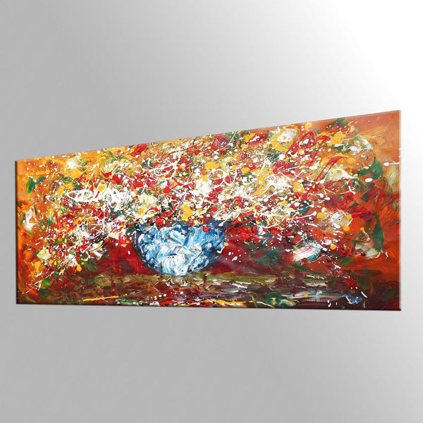 Abstract Art, Kitchen Wall Art, Large Painting, Flower Painting, Canvas Art, Wall Art, Abstract Art, Canvas Painting, 430