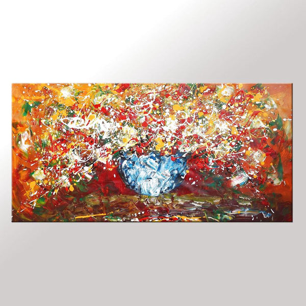 Abstract Art, Kitchen Wall Art, Large Painting, Flower Painting, Canvas Art, Wall Art, Abstract Art, Canvas Painting, 430 - artworkcanvas
