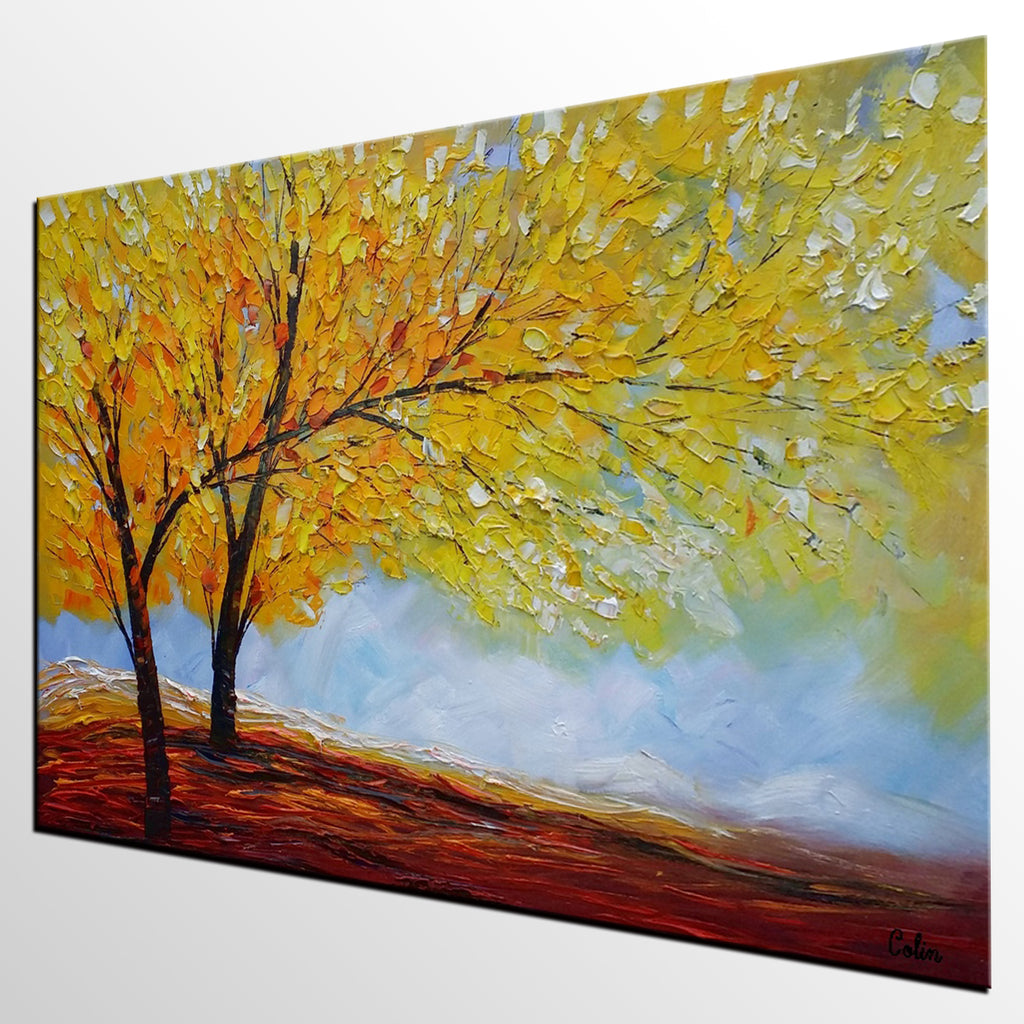 Original Painting, Art Painting, Autumn Tree Painting, Landscape ...