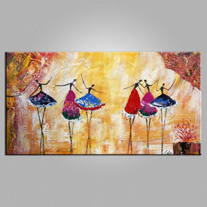 Canvas Painting, Ballet Dancer Painting, Modern Artwork, Wall Art