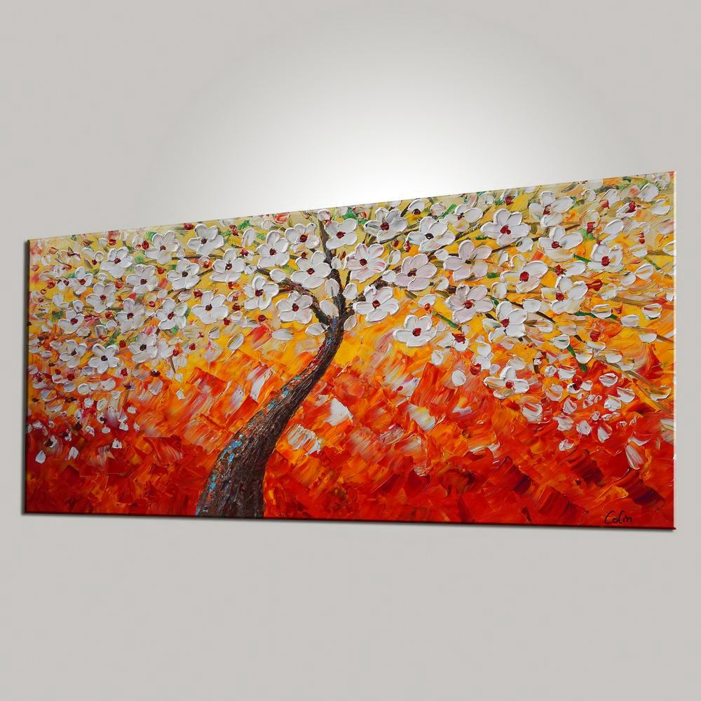 Tree Painting Dining Room Wall Art Flower Painting Abstract