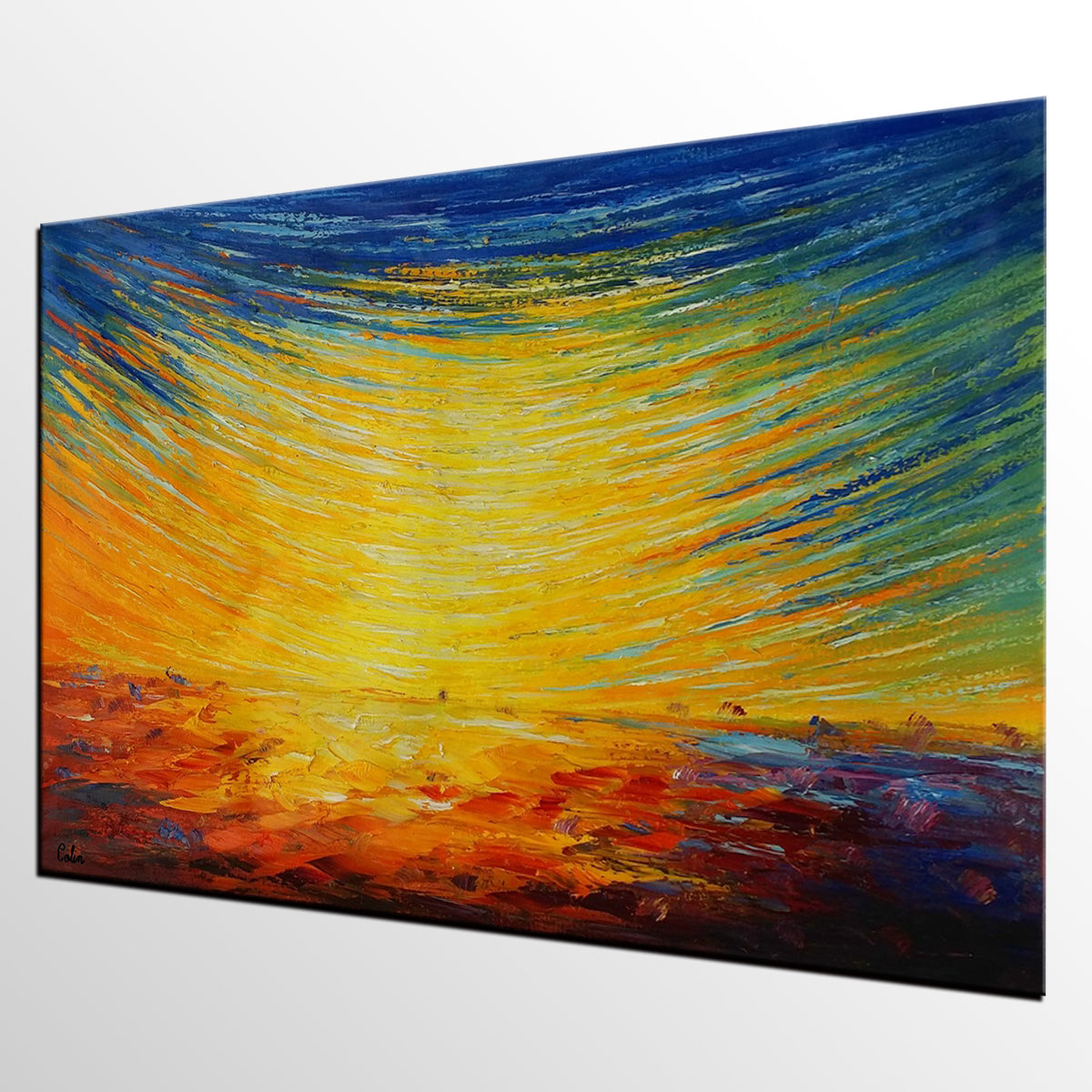 Canvas Wall Art, Abstract Art,  Abstract Landscape Art, Original Painting