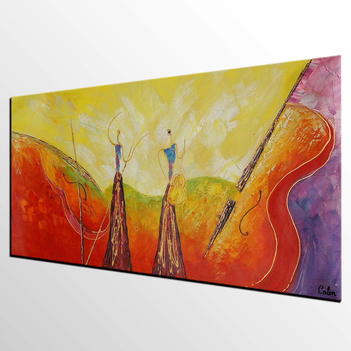 Acrylic Art, Abstract Art, Large Art, Singer Music Painting, Modern Art, Contemporary Art