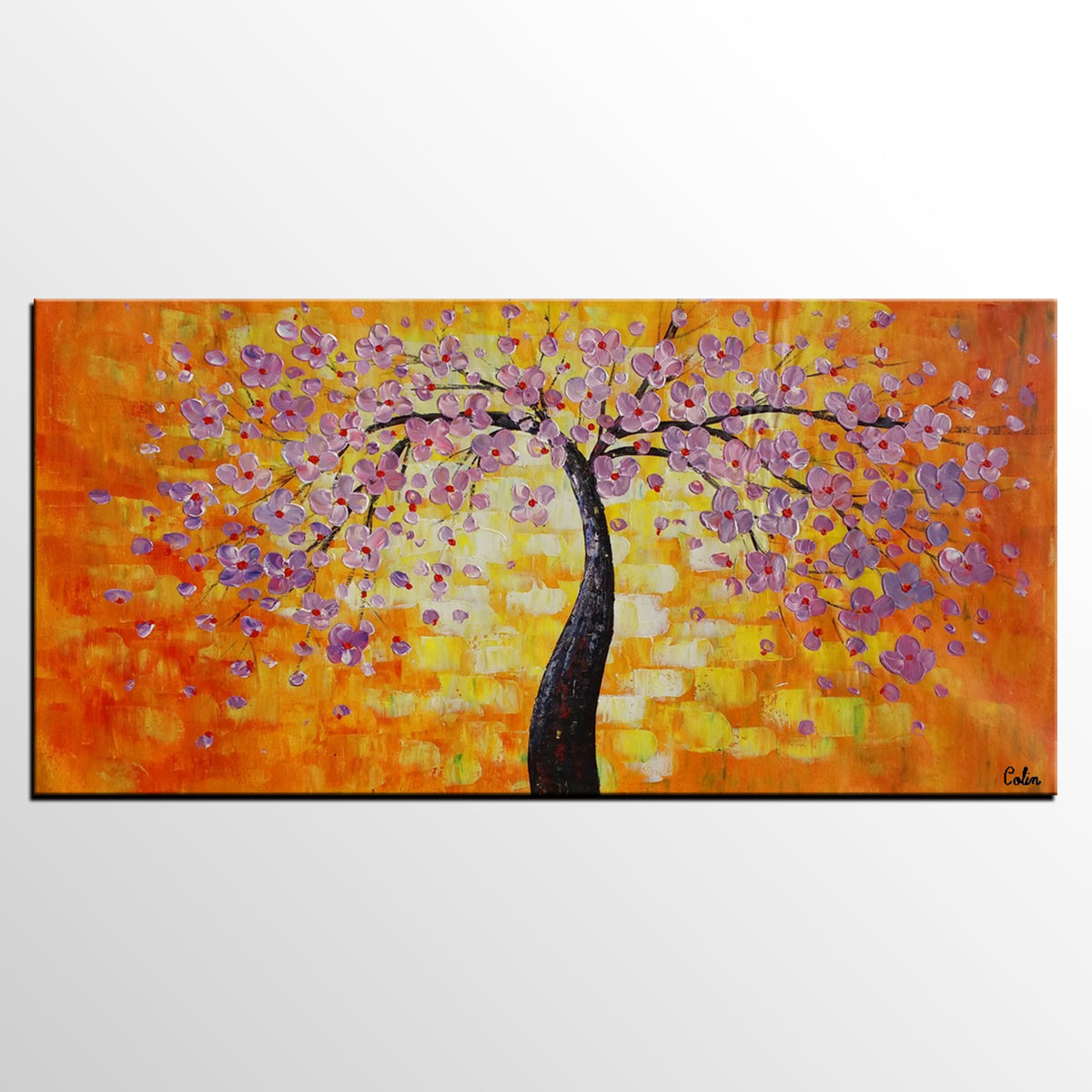 Floral Painting, Flower Tree Painting, Abst...