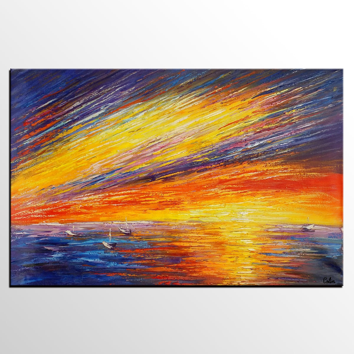 Seascape Painting, Abstract Painting, Original Painting, Abstract Art, Wall Art
