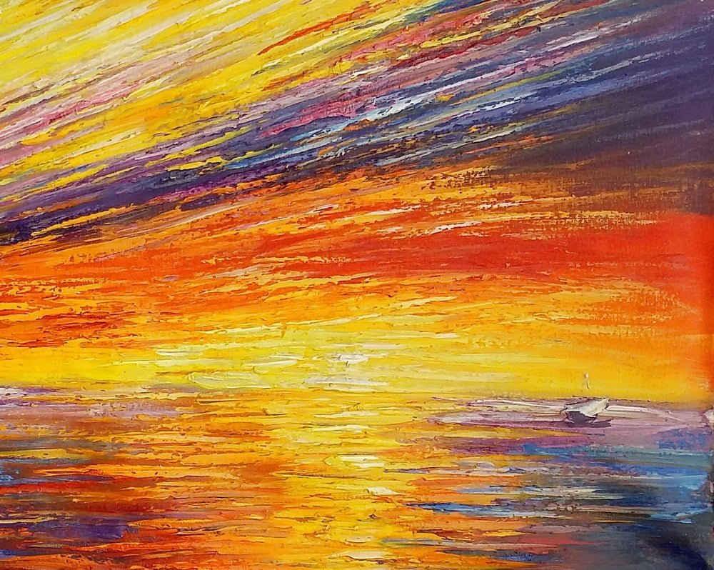 Seascape Painting, Abstract Painting, Original Painting, Abstract ...
