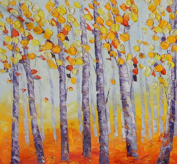 Tree Painting, Abstract Painting, Large Landscape Art, Canvas Art-artworkcanvas