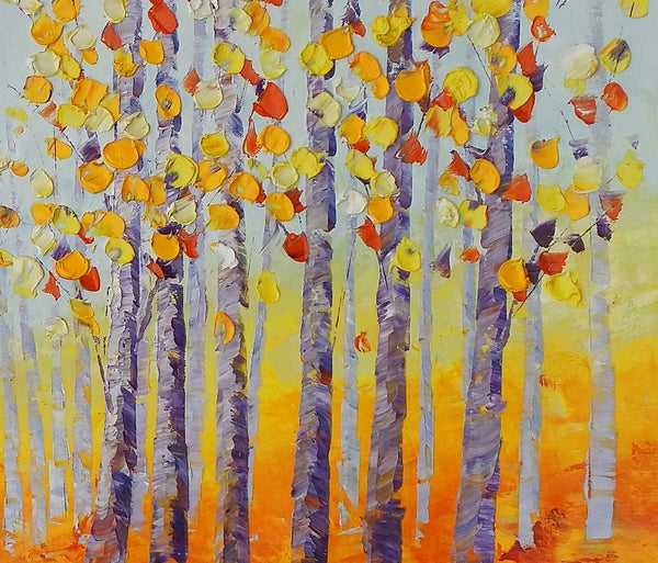 Tree Painting, Abstract Painting, Large Landscape Art, Canvas Art - artworkcanvas