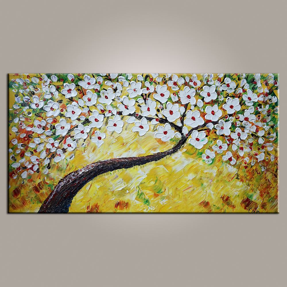 Wall Art, Flower Painting, Canvas Art, Orig...