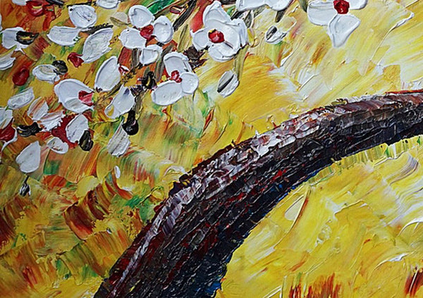 Wall Art, Flower Painting, Canvas Art, Original Artwork, Canvas Painting