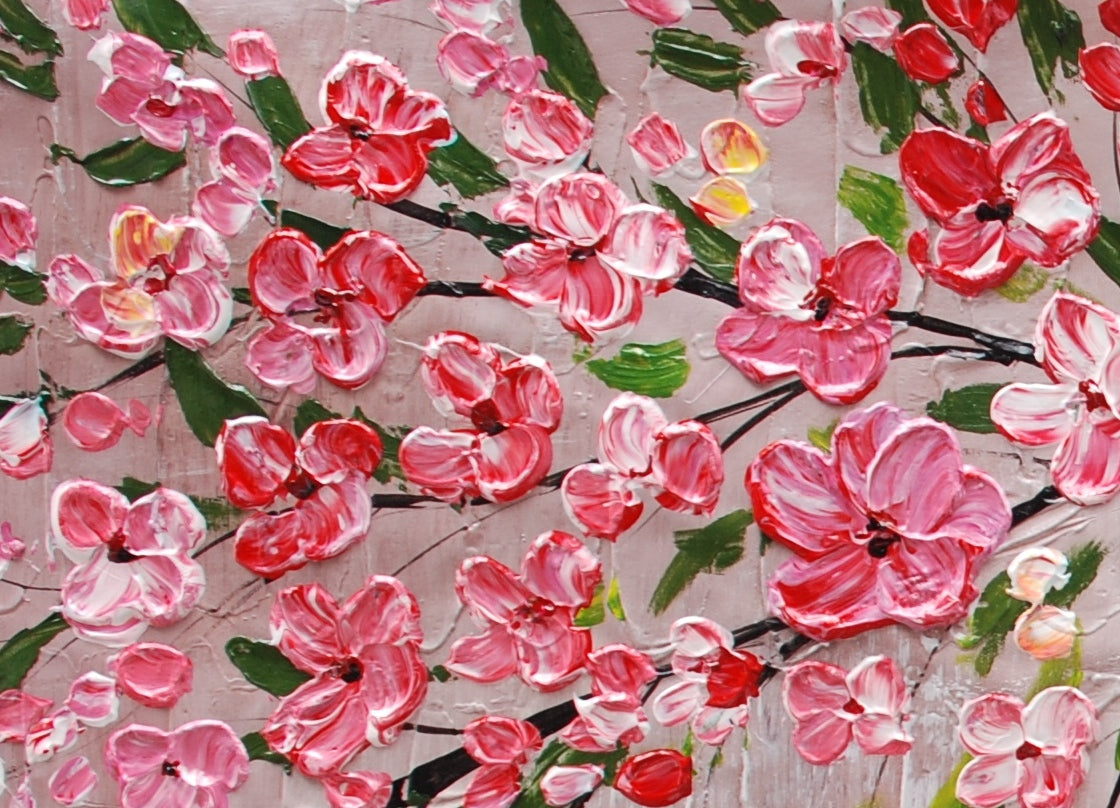 Tree Painting, Original Painting, Flower Painting, Home Art, Canvas Art, Wall Art, Abstract Artwork, Canvas Painting, 485