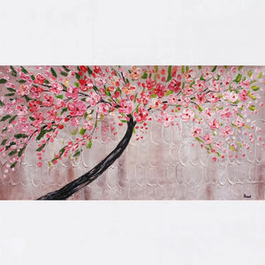 Tree Painting, Original Painting, Flower Painting, Home Art, Canvas Art, Wall Art, Abstract Artwork, Canvas Painting, 485 - artworkcanvas
