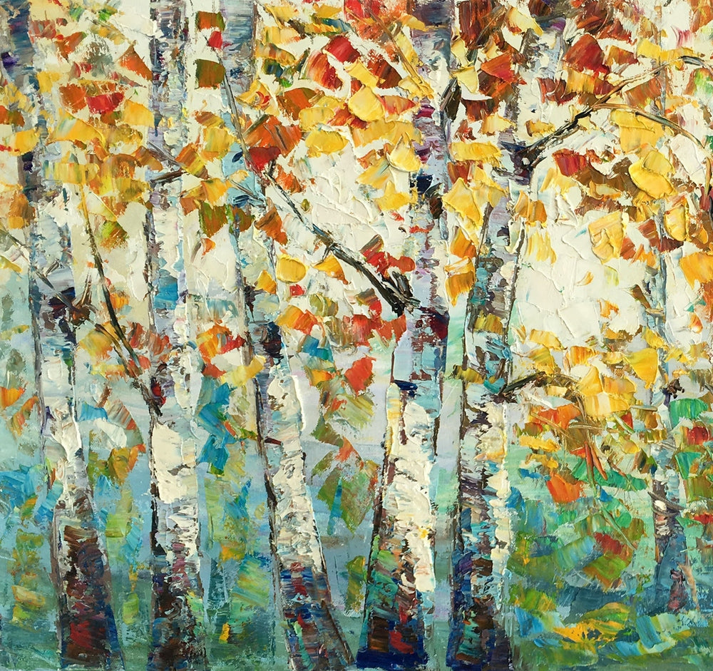 Abstract Art for Sale, Autumn Tree Landscape Painting, Abstract Autumn Paintings
