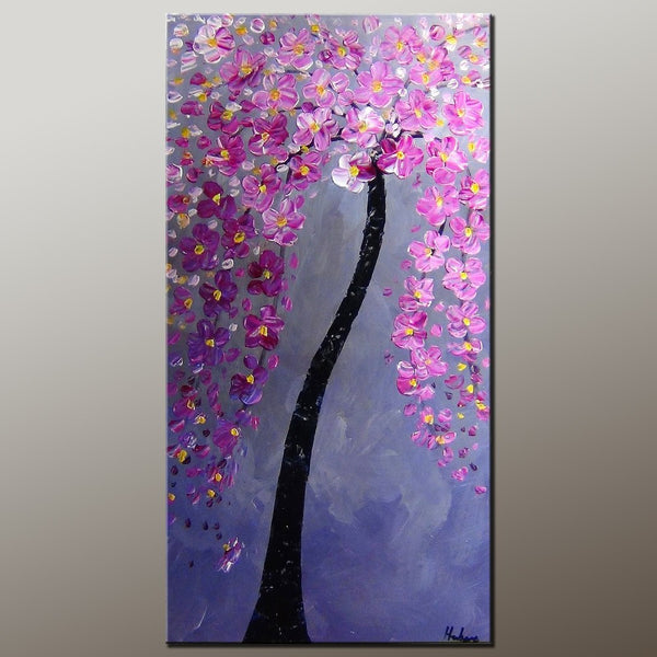 Flower Painting, Tree Painting, Canvas Art, Acrylic Painting, Home Art, Wall Art, Abstract Artwork, Kitchen Art, 491