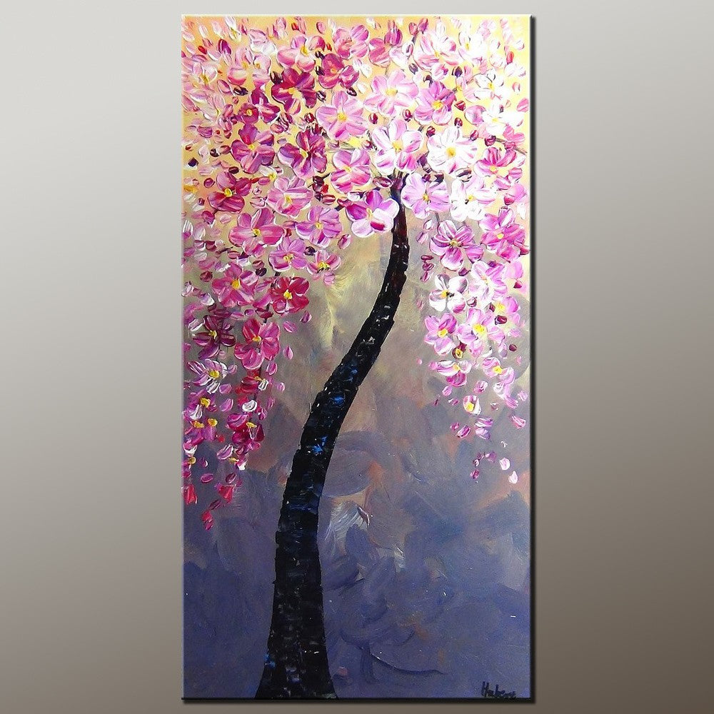 Tree Painting, Canvas Art, Flower Painting, Acrylic Painting, Home Art, Wall Art, Abstract Artwork, Kitchen Art, 492