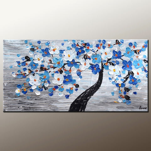 Incroyable Abstract Painting, Canvas Art, Flower Tree Painting, Wall Painting, Home Art ,