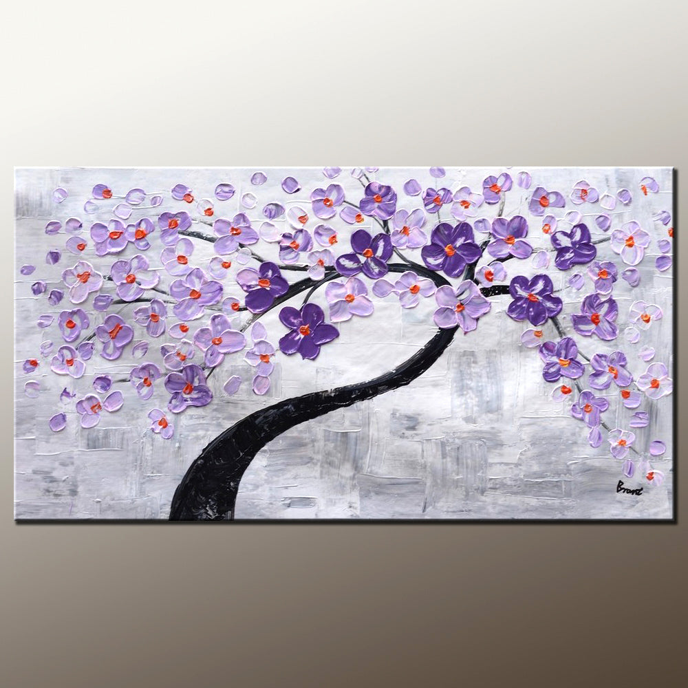 Abstract Painting Wall Painting Home Art Canvas Art Flower Tree Painting Wall Art Original Painting Modern Art 500