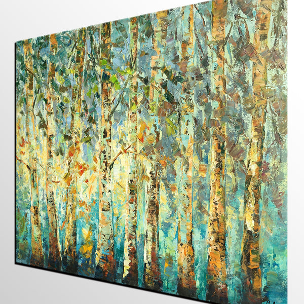 Abstract Art, Tree Landscape Painting, Oil Painting, Heavy Texture Painting - artworkcanvas
