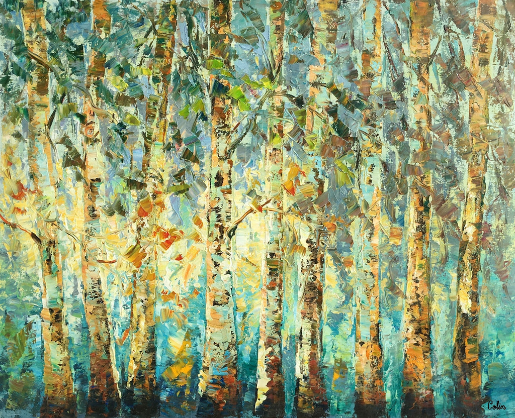 Abstract Art Tree Landscape Painting Oil Painting Heavy Texture
