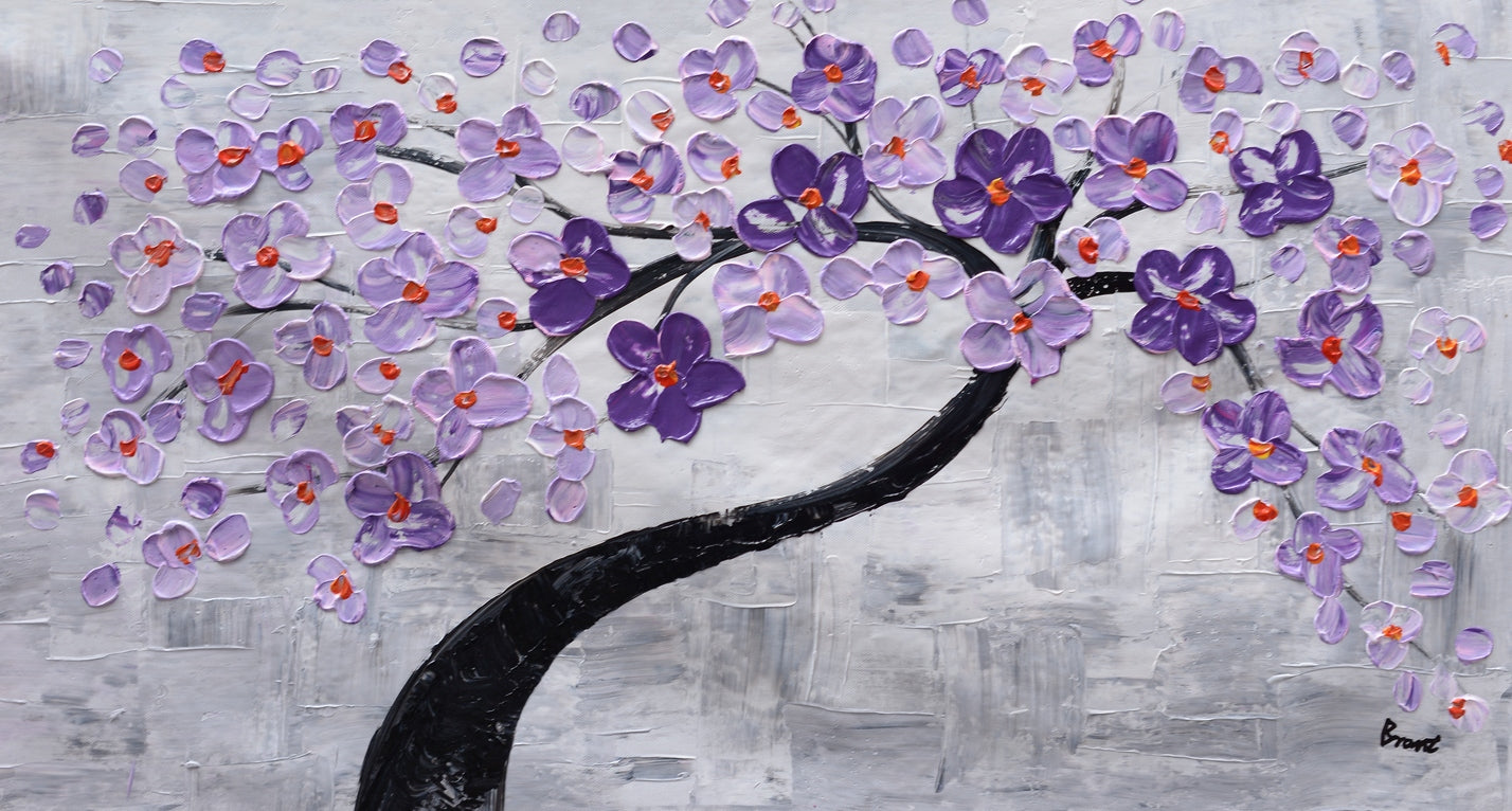 Abstract Painting, Wall Painting, Home Art, Canvas Art, Flower Tree Painting, Wall Art, Original Painting, Modern Art, 500