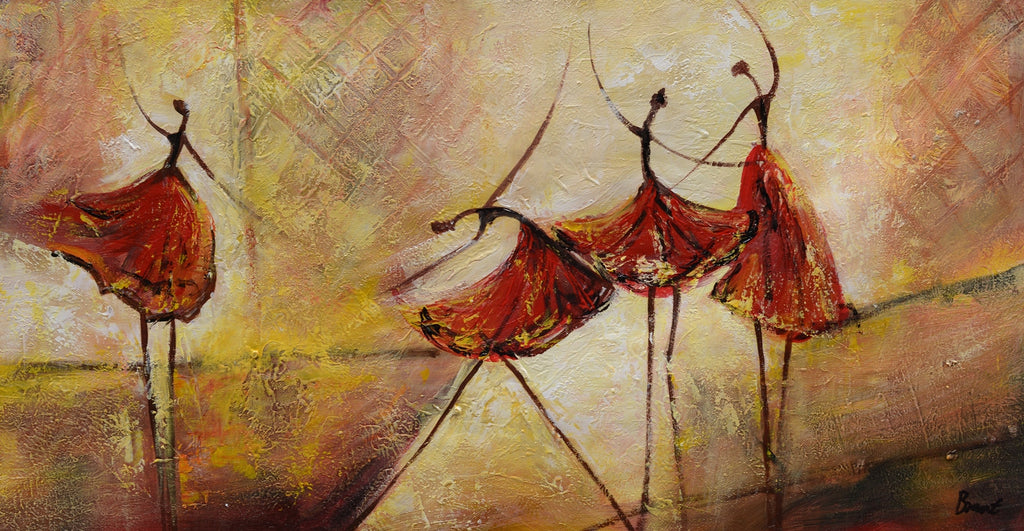Living Room Wall Art Abstract Painting Ballet Dancer Canvas