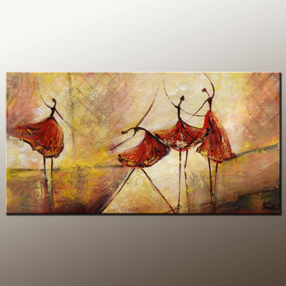 Living Room Wall Art, Abstract Painting, Ballet Dancer Painting, Abstract Art, Canvas Art, Wall Art, Canvas Painting, Modern Art, 505 - artworkcanvas