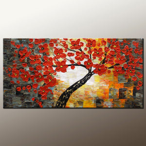 Wall Painting, Home Art, Canvas Art, Abstract Painting, Flower Tree Painting, Wall Art, Original Painting, Modern Art, 506 - artworkcanvas