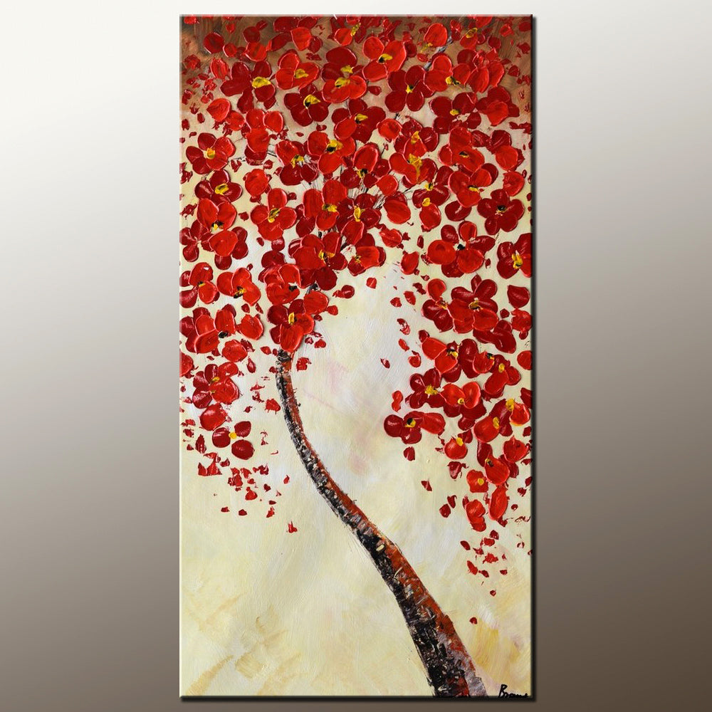 Canvas Art, Wall Painting, Home Art, Abstract Painting, Flower Tree Painting, Wall Art, Original Painting, Modern Art, 509 - artworkcanvas