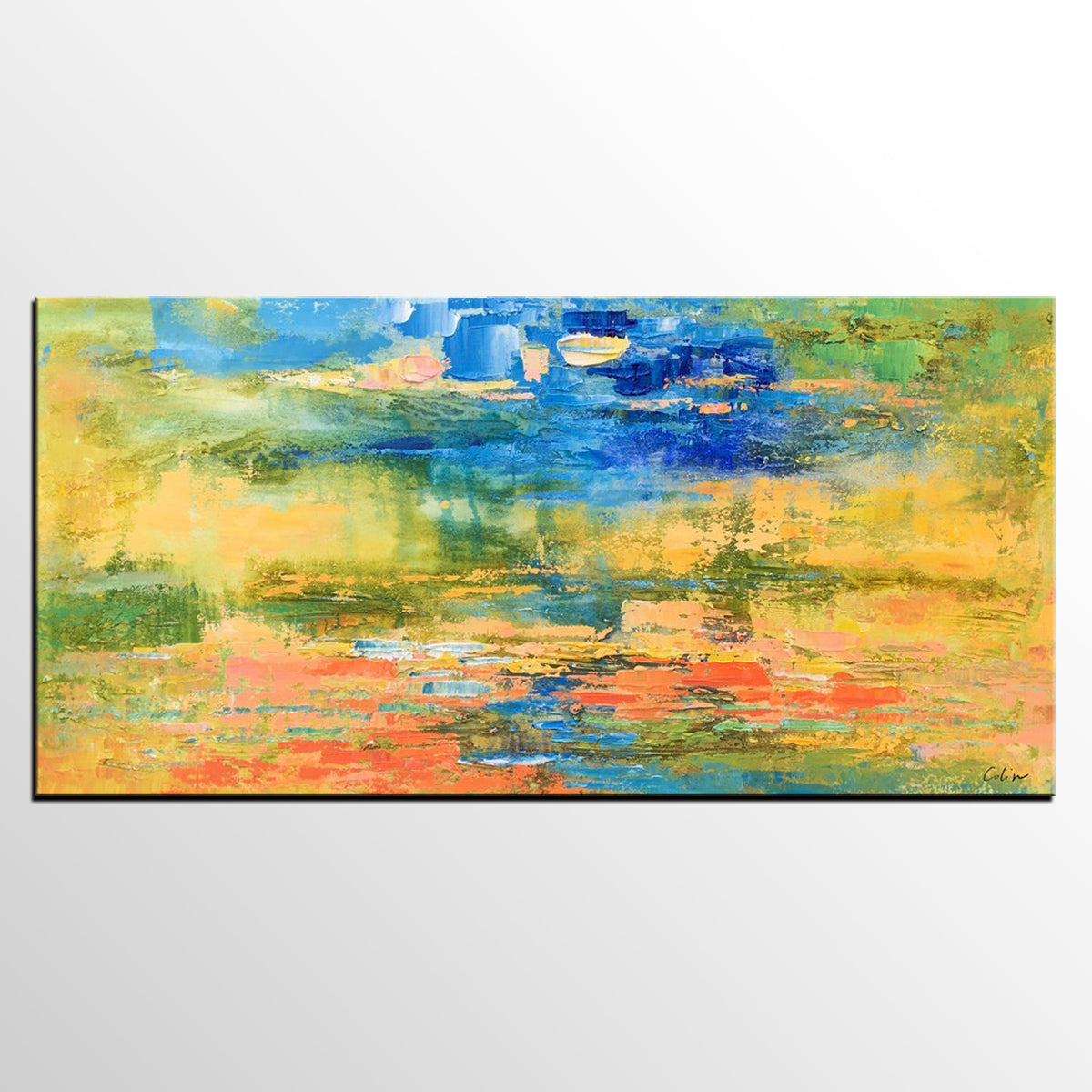 Original Painting, Abstract Art, Abstract Landscape Painting, Abstract Painting, Canvas Art, Wall Art, Contemporary Artwork, 513