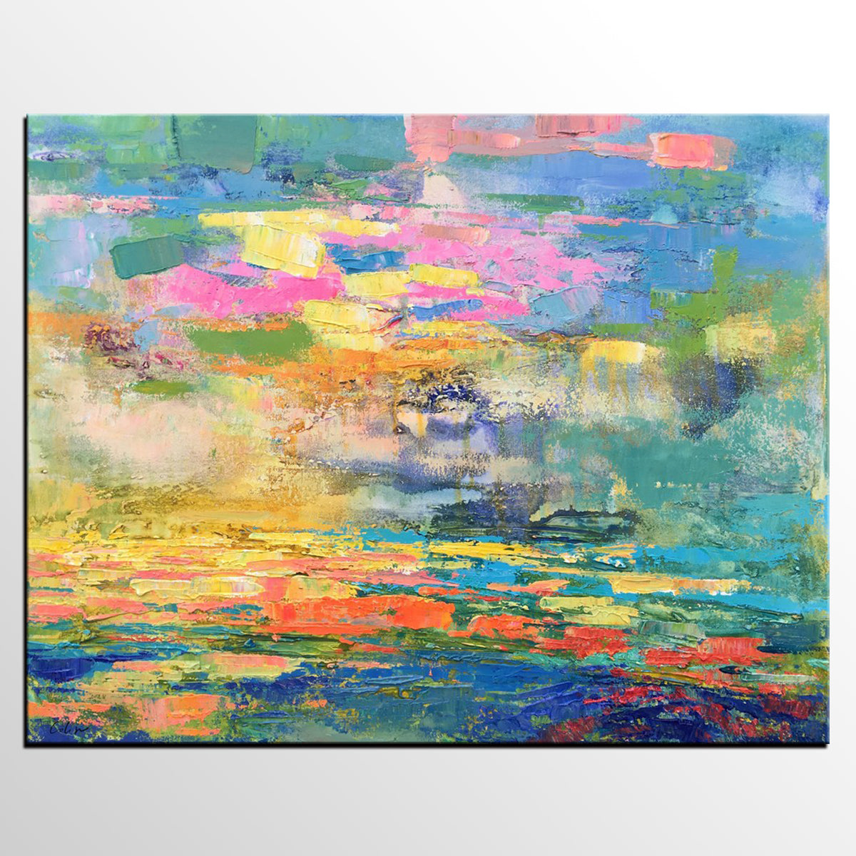 Abstract Landscape Painting, Contemporary A...