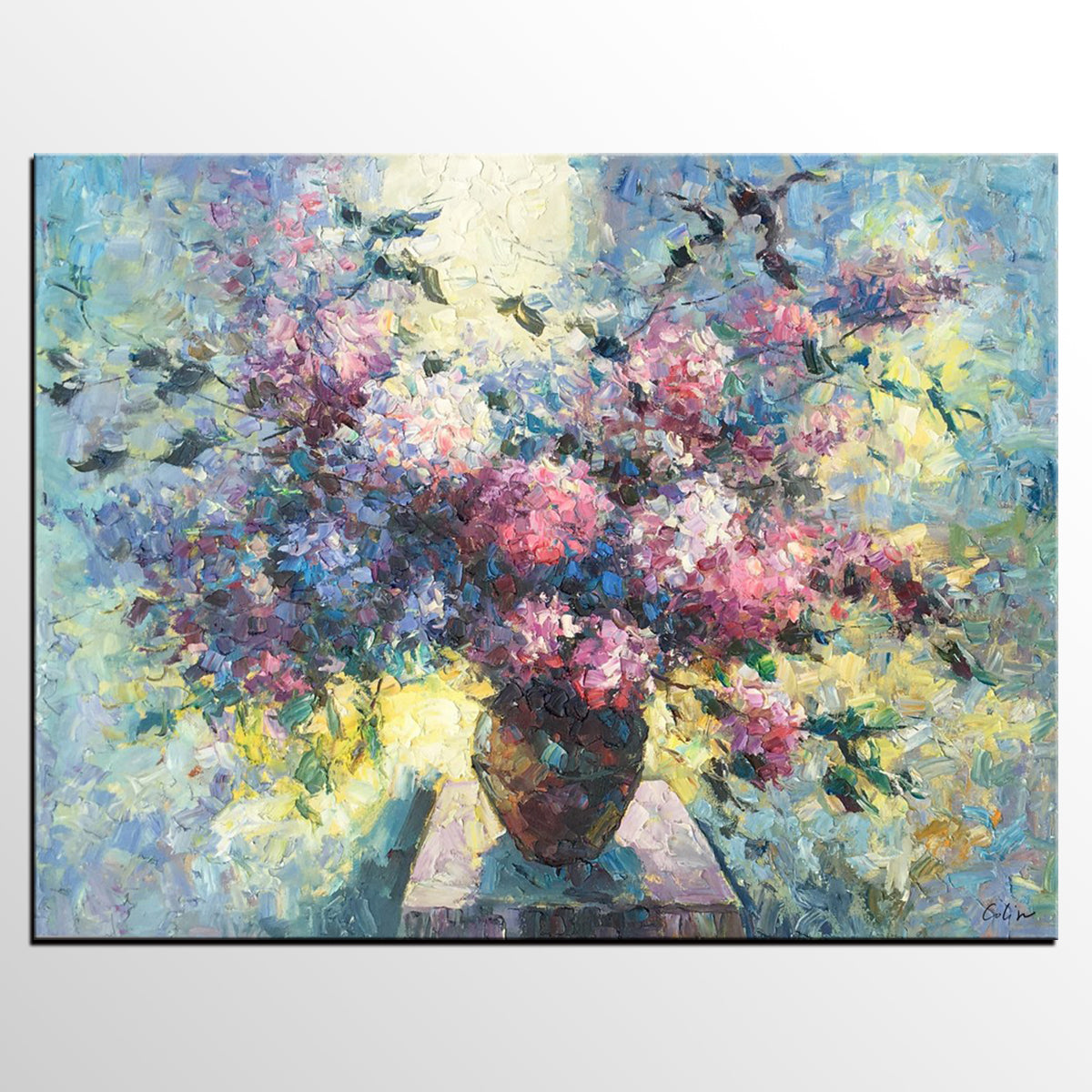 Canvas Wall Art, Flower Painting, Still Life Painting, Large Art, Canvas Art, Wall Art, Original Artwork, Canvas Painting, Oil Painting, 520-artworkcanvas