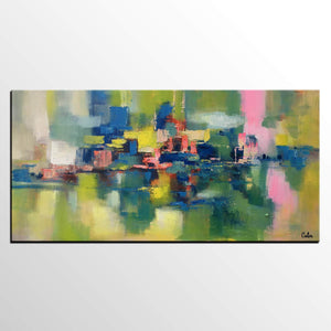Large Canvas Art, Abstract Painting for Sale, Bedroom Canvas Art, Custom Acrylic Art Painting - artworkcanvas