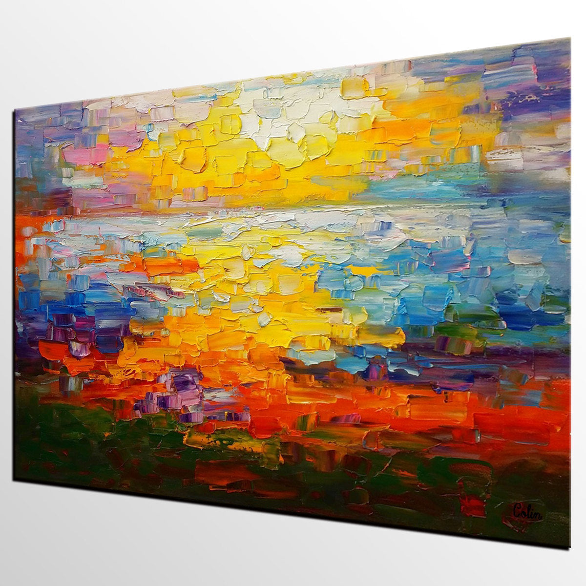Large Canvas Art, Abstract Painting, Impasto Art, Canvas Oil Painting