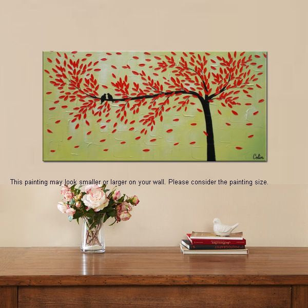 Singing Birds Painting Love Birds Painting Abstract Painting