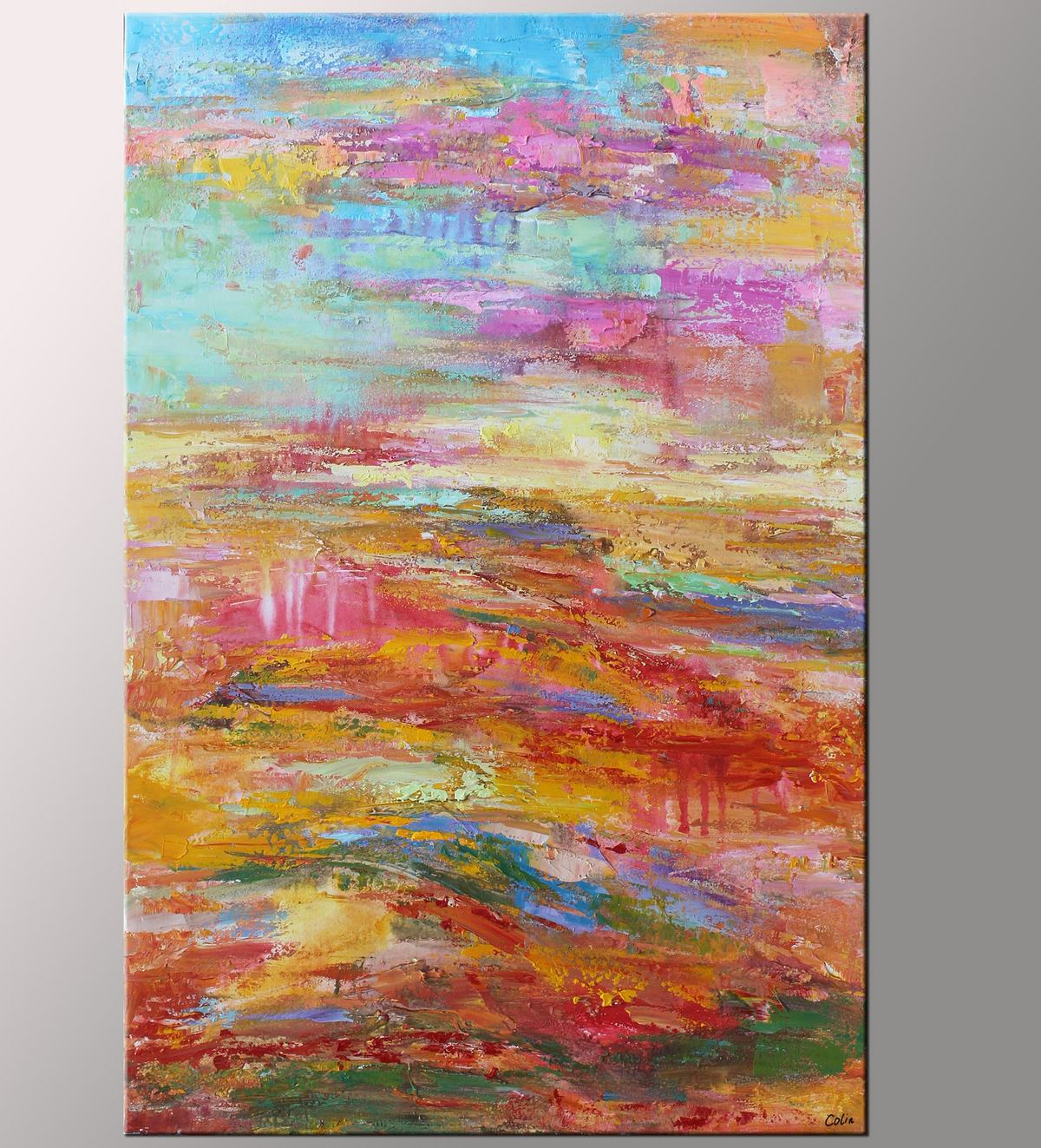 Original Art, Contemporary Art, Canvas Wall Art, Landscape Art, Large Abstract Painting
