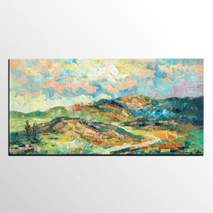 Landscape Painting, Autumn Mountain Painting, Original Wall Art, Large Art, Canvas Art, Original Artwork, Canvas Painting, Oil Painting