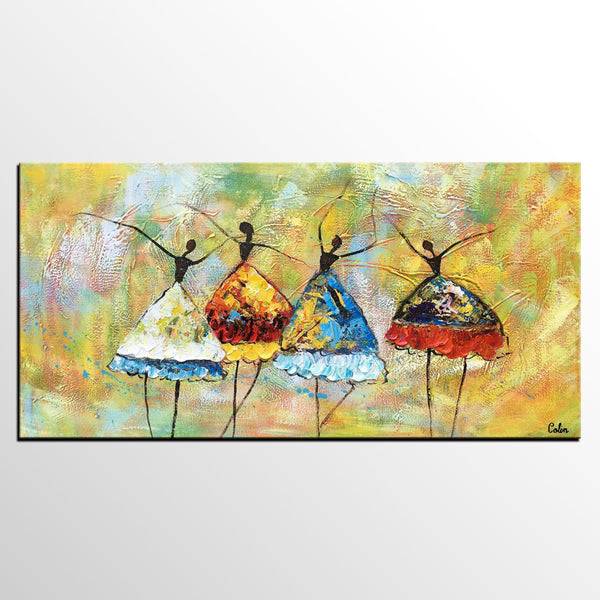 Canvas Art Painting, Ballet Dancer Painting, Canvas Wall Art, Custom Extra Large Artwork - artworkcanvas