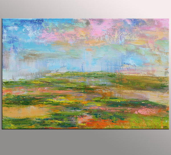 Contemporary Art, Canvas Wall Art, Abstract Landscape Art, Large Art, Original Painting