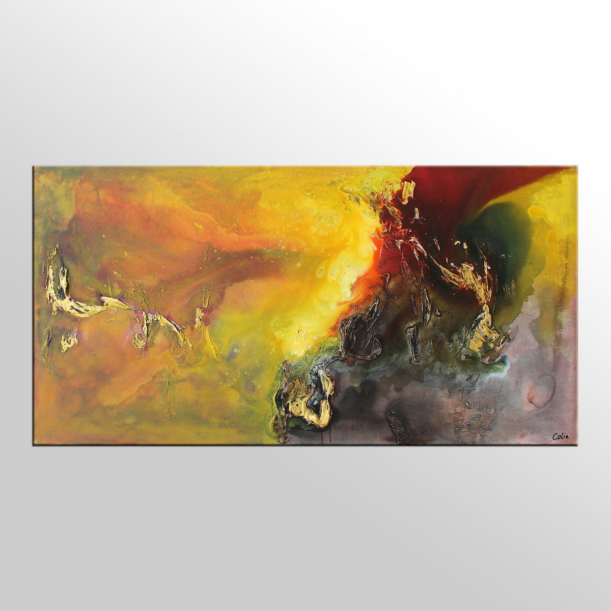 Living Room Wall Art, Abstract Painting, Original Painting, Abstract Art,  Canvas Art Part 91