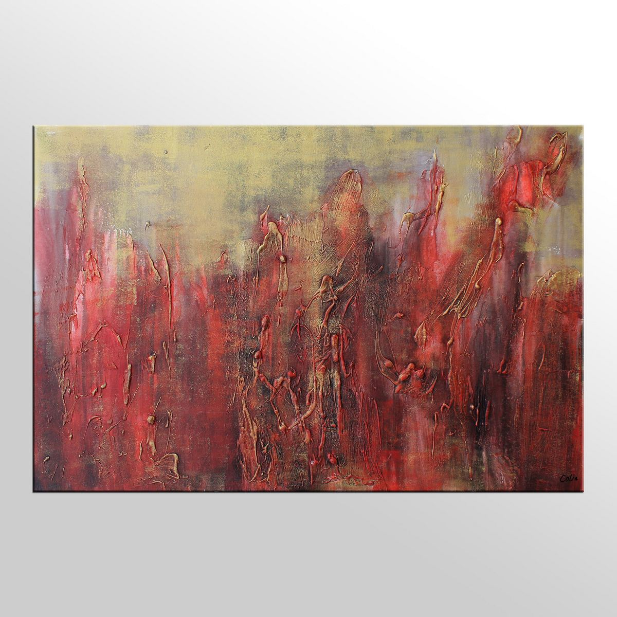 Large art original painting abstract painting acrylic for Artwork on canvas for sale