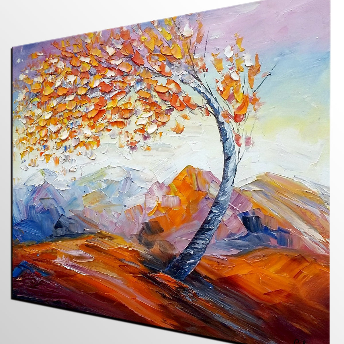 Original Art, Abstract Painting, Oil Painting, Landscape Art, Wall Art, Tree Painting, Canvas Wall Art, Abstract Art, Large Art
