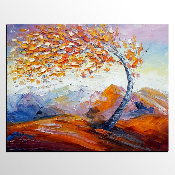 Original Art, Abstract Painting, Oil Painting, Landscape Art, Wall Art, Tree Painting, Canvas Wall Art, Abstract Art, Large Art - artworkcanvas