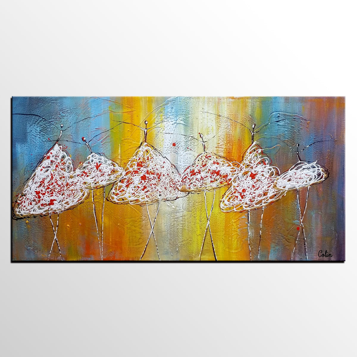 Original Painting, Ballet Dancer Art, Canva...