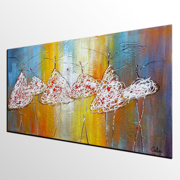 Original Painting, Ballet Dancer Art, Canvas Wall Art, Contemporary Art, Bedroom Wall Art, Abstract Art, Large Art, Abstract Painting - artworkcanvas