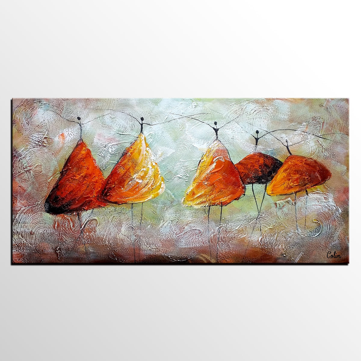 Dancing Painting, Abstract Art, Canvas Wall Art, Original Art, Painting for Sale