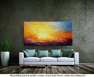 Heavy Texture Art, Abstract Landscape Art, Wall Art, Living Room Wall Art, Abstract Art, Large Art, Abstract Painting, Original Painting - artworkcanvas