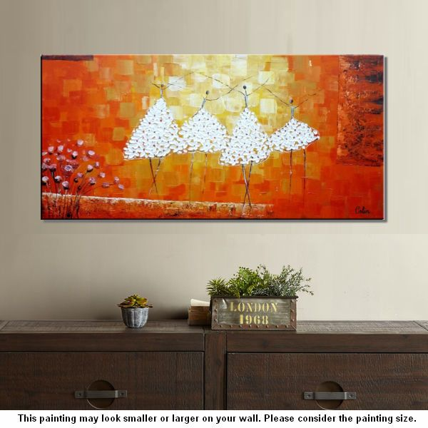 Wall Art, Abstract Art, Ballet Dancer Painting, Large Abstract Painting, Original Painting - artworkcanvas