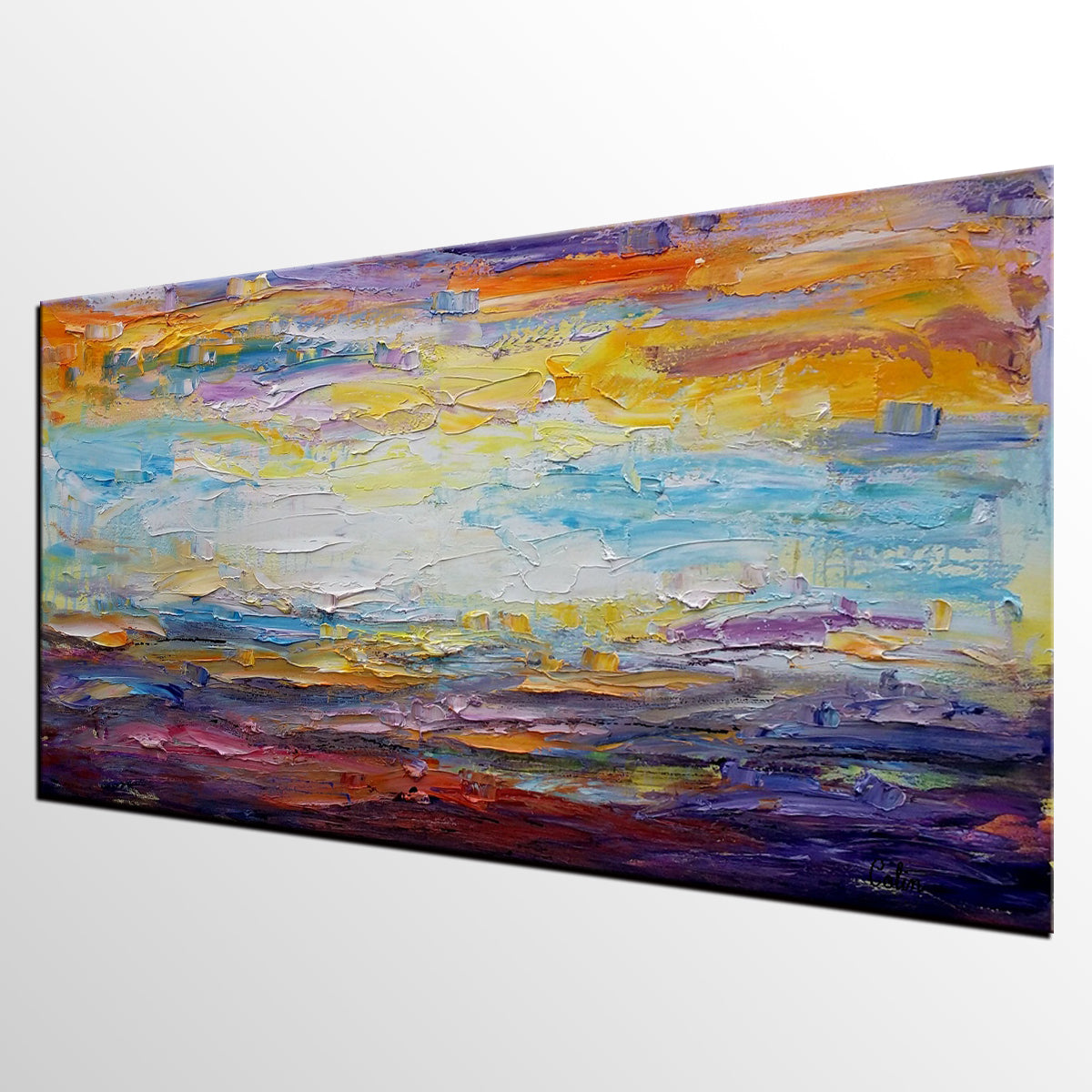Canvas Painting, Kitchen Wall Art, Abstract Landscape Painting, Large Art, Canvas Art, Wall Art, Original Artwork, Abstract Painting, Modern Art